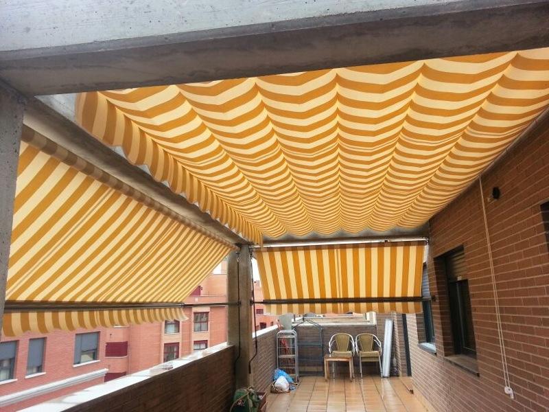 Toldos terrazas aticos materiales de construcci n para la reparaci n - Toldos para aticos ...